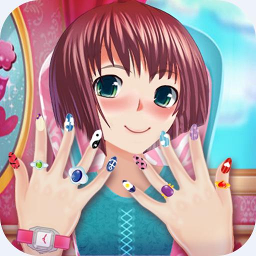 salón de uñas chica anime : Manicura 💅 uñas juego polaco