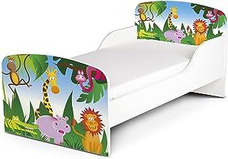 Leomark Barnsäng 140 x 70, funktionell säng enkelsäng med madrass, mycket enkel montering.