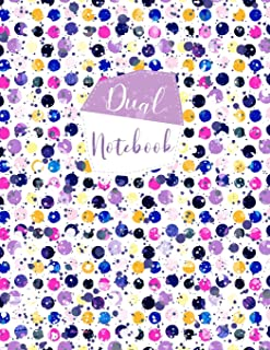 Dual Notebook: Large Journal with Alternating Blank and Lined Pages - Plain Paper On One Side, College Ruled Lined Paper O...