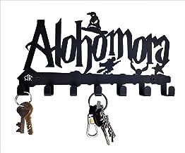 HeavenlyKraft Decorative Metal Key Hook Black Color Metal Wall Mounted Key Holder with 7 Hooks 27 X 15 X 2.5 cm Key Rack f...