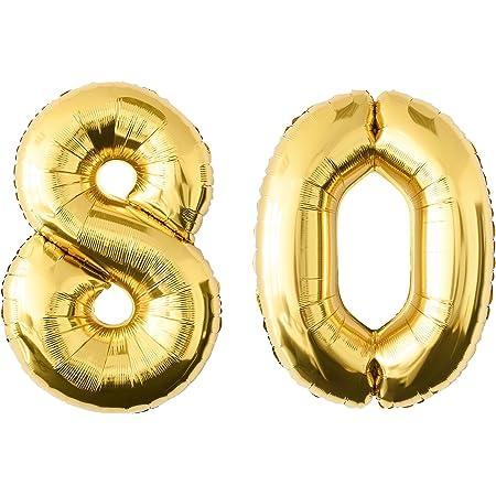 Geburtstags Deko Party Luft Ballon Zahl Ziffer 35 cm 8 Gold Zahlenballon Nr