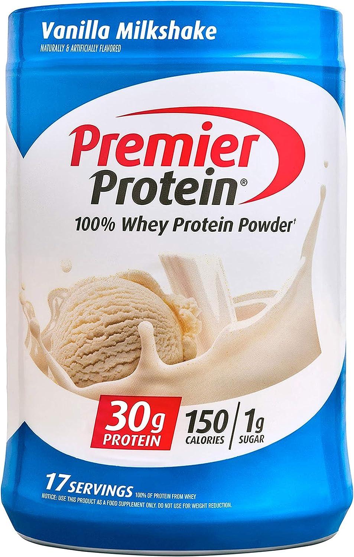 Premier Protein Powder Max 59% OFF Max 48% OFF Vanilla Milkshake Sugar 30g 1g