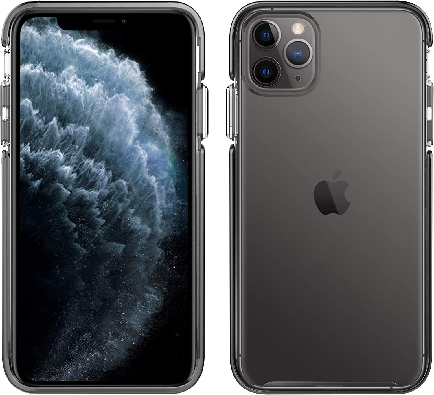 Pelican iPhone 11 Pro Max Case, Ambassador Series – Military Grade Drop Tested – TPU, HPX, Aluminum Protective Case for Apple iPhone 11 Pro Max (Clear/Black with Silver Button) (C57130-001A-CLBS)