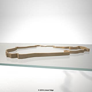 Linear Edge Nurburgring Nordschleife 3D Track Sculpture (Tan Track - No Canvas)