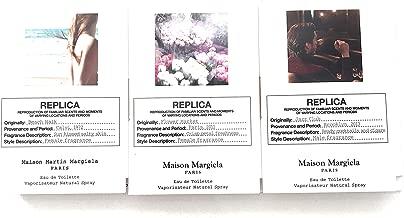 Maison Martin Margiela Replica Eau de Parfum, 3 samples - .04 oz. each ; Jazz club, Beach walk, Flower Market