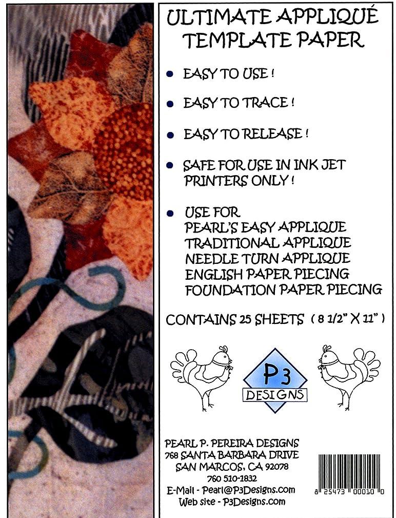 P3 Designs Applique Template Freezer Paper, 6-1/2