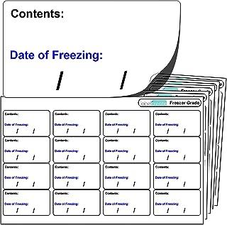 256x Freezer Labels, FREEZER GRADE Self Adhesive Stickers.