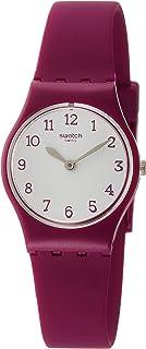 Swatch Originals Redbelle White Dial Silicone Strap Ladies Watch LR130