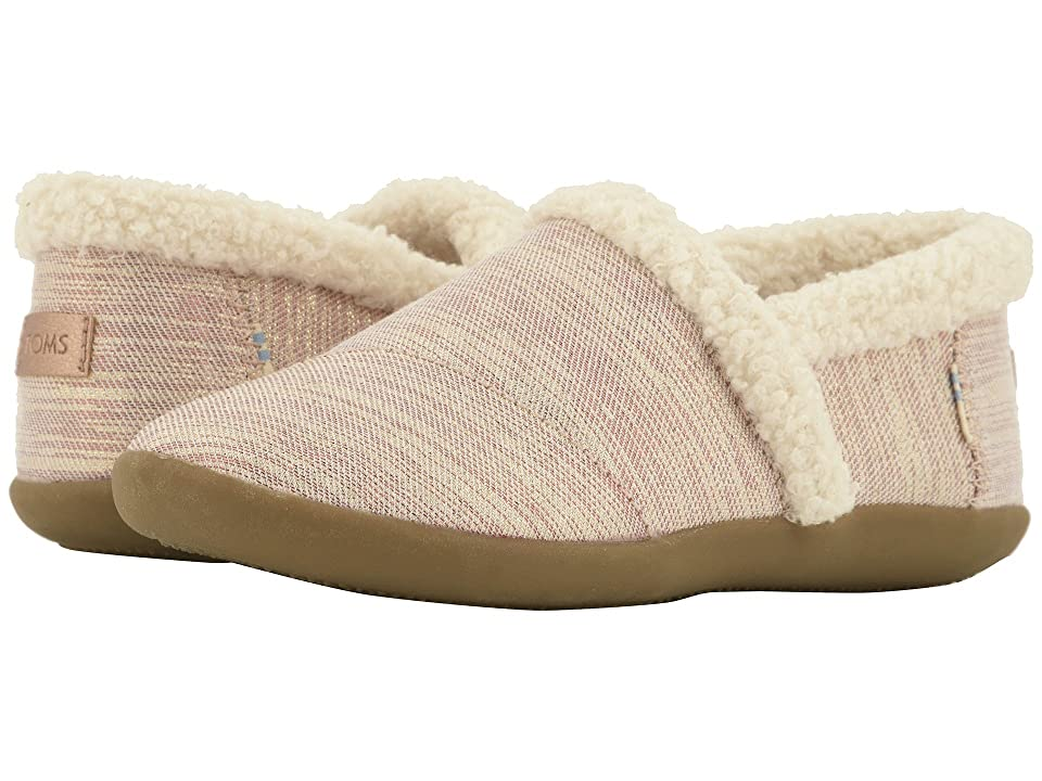 TOMS Kids House Slipper (Little Kid/Big Kid) (Rose Cloud Twill Glimmer) Girls Shoes