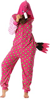 Parrot and Flamingo Adult Onesie Pajamas