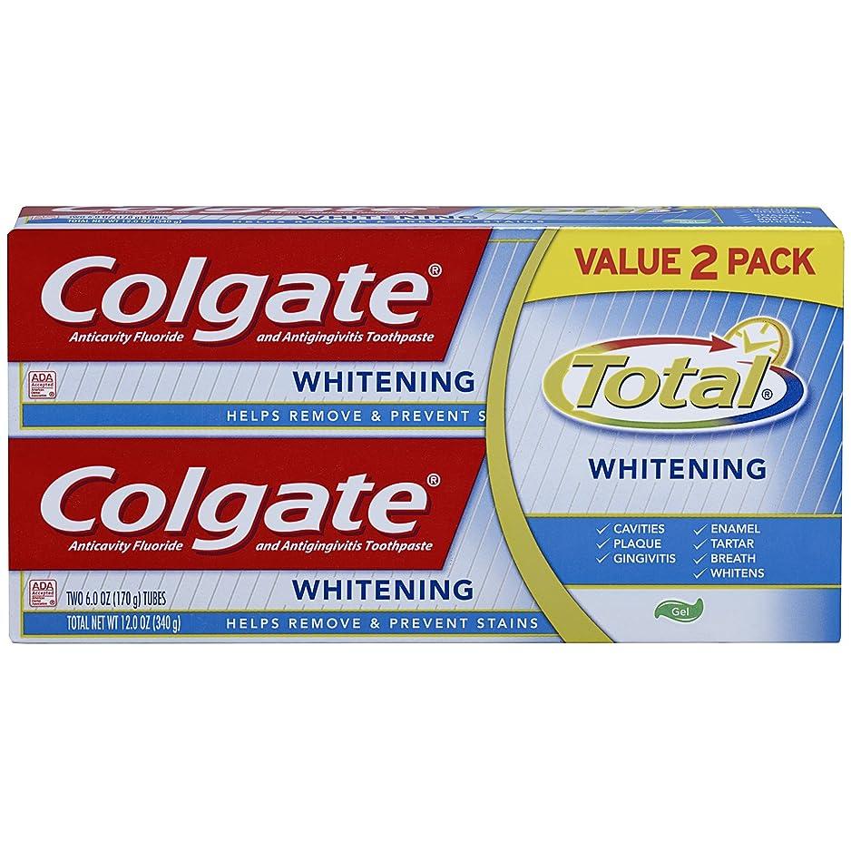 舞い上がるスポーツマン神聖Colgate トータルホワイトニングジェル歯磨き - 12オンス(ツインパック)
