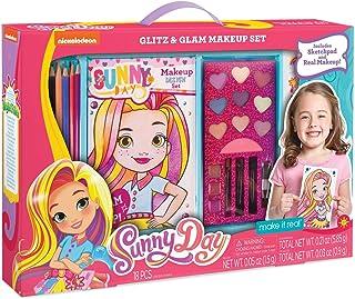 Make It Real - Sunny Day Glitz & Glam Makeup Set. First Time Design & Makeup Starter Set for Little Girls Includes Nickelo...