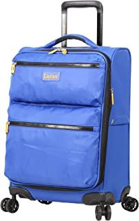 Lucas Ultra Lightweight Carry On Softside 20 inch Expandable Luggage With Spinner Wheels (20in, Royal Blue)