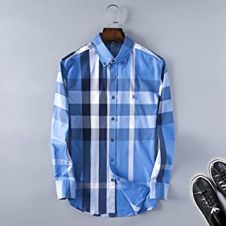 Billy Burberry Men's Classic Plaid Shirt