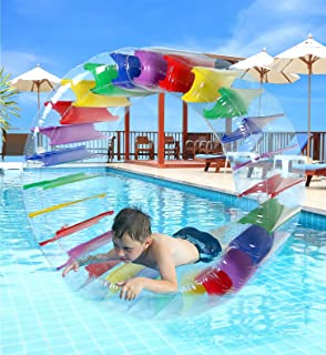 Greenco Kids Colorful Inflatable Water Wheel Roller Float 52