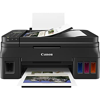 Canon PIXMA G4210 Wireless All-In-One Supertank (Megatank) Printer, Copier, Scan, Fax and ADF with Mobile Printing, Black, One Size, Works with Alexa