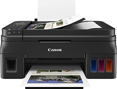 Canon G4210 Wireless Megatank All-in-One Printer with Scanner, Copier and Fax, Mobile Printing, Black (2316C002)