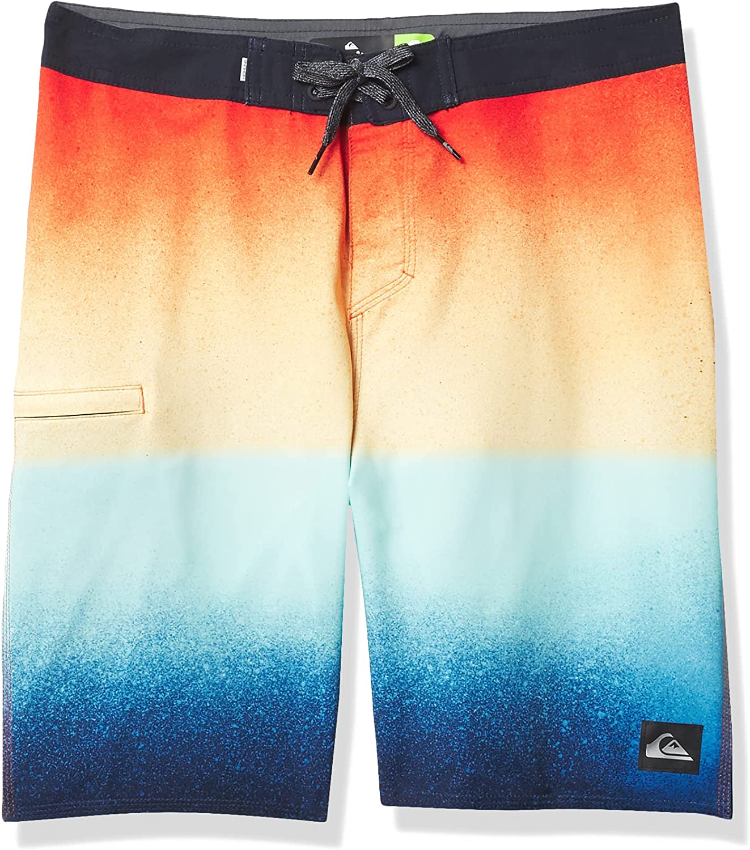 Quiksilver Boys' New York Mall Surfsilk 17 List price Inch Stretch Trunk Swim Boardshort