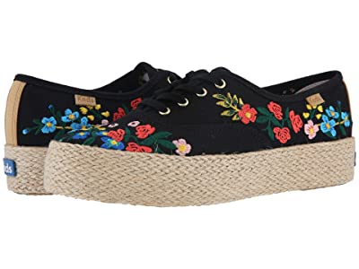 Keds x Rifle Paper Co. Triple Wildwood Embroidery (Black) Women