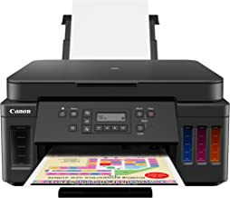 Canon PIXMA G6020 All-In-One Supertank Wireless (Megatank) Printer, Copier and Scan with Mobile Printing, Black, Works wit...