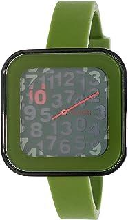 Nixon Rocio Surplus Digital Square Green Silicone Women's Watch A1621048