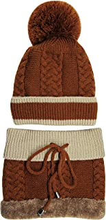 Ledamon Winter Slouchy Beanie Cable Knit Skull Hat Warm Scarf Thick Ski Cap for Men Women