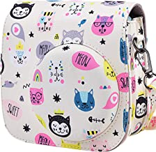 Protective & Portable Case Compatible with Fujifilm Polaroid Instax Mini 9 8 8+ Instant Film Camera with Accessory Pocket and Adjustable Strap - Kitty by SAIKA