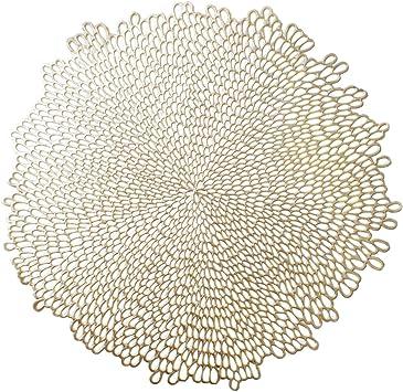 Benson Mills Pressed Vinyl Placemat Set Of 4 15 5 Bloom Gold 4 Count Amazon Ca Home Kitchen
