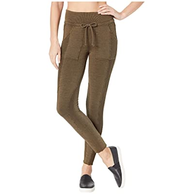 Free People Movement Mid-Rise Double Take Leggings (Army) Women