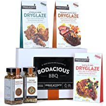 Urban Accents BODACIOUS BBQ, Gourmet BBQ, Smoking & Grilling Spices and Meat Rubs (Set of 5) - A Dryglaze, Meat Spices and Dry Rubs BBQ Gift Set- Perfect Gift for Any Occasion