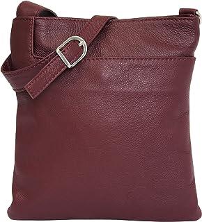 AmbraModa NL611 - Bolso bandolera de hombro de piel suave para mujer, bolso pequeno