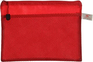 Apple 664 Canvas Zipper File, A5 Size - Red
