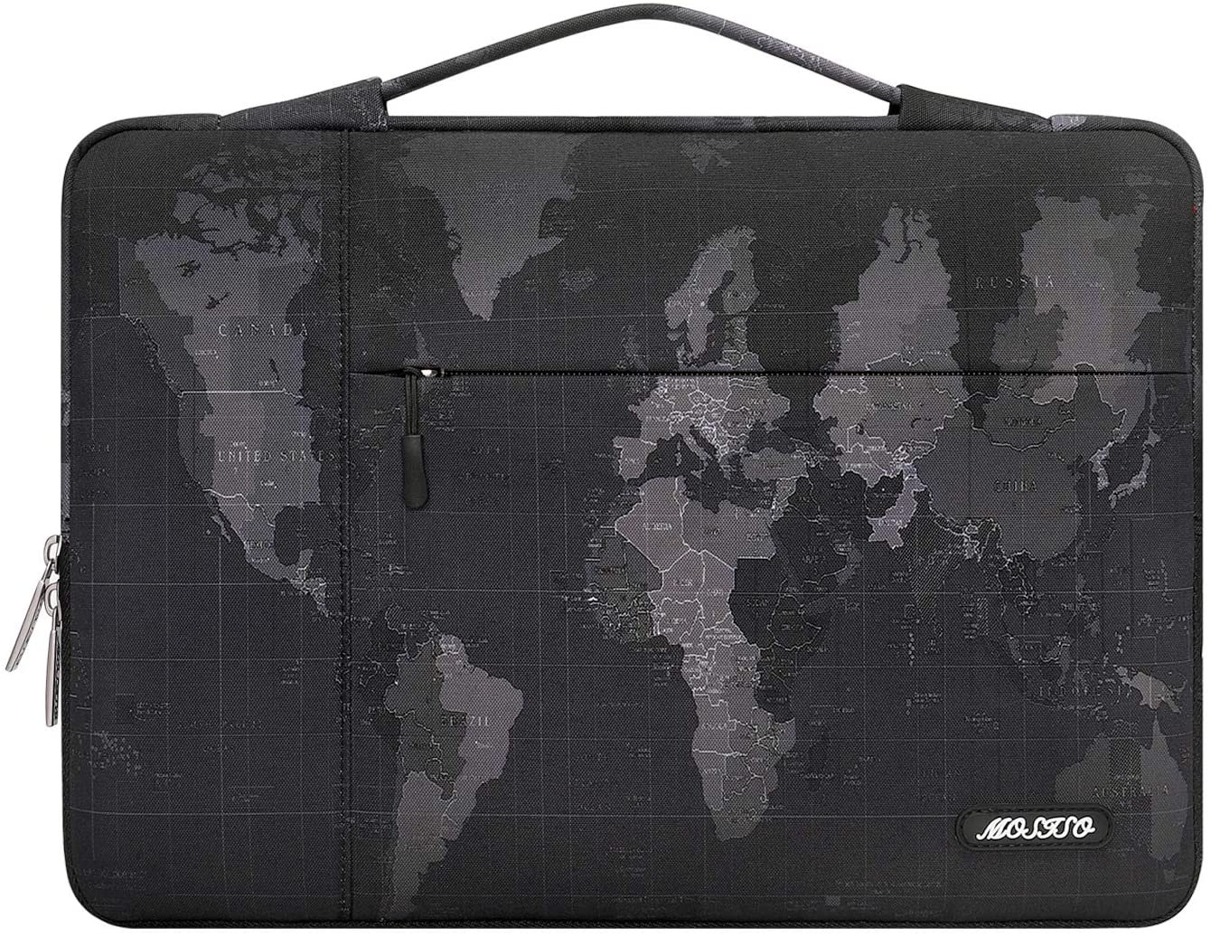 MOSISO Laptop Sleeve Compatible with MacBook Pro/Air 13 inch, 13-13.3 inch Notebook Computer, Surface Book, Surface Laptop, Polyester Vintage Map Multifunctional Briefcase Bag