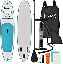 in.tec Stand Up Paddle Board 305x71x10cm Türkis Surfboard SUP Paddelboard Wellenreiter aufblasbar