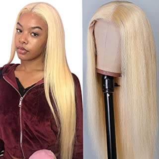 UNice Hair 613 Blonde 13x4 Lace Front Human Hair Wigs, 10a Brazilian Remy Straight hair Lace Frontal Wig for Black Women P...