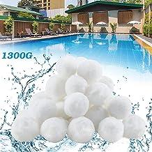 YIKANWEN Bolas filtrantes de 1300 g, sustituyen a 46 kg de arena filtrante, bolas de filtro para piscina, bomba de filtro, filtro de arena para acuario.