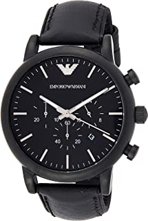 Emporio Armani Watch For Men, Leather, Chronograph, Ar1970, Analog Display