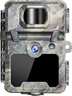 """OUDMON Trail Game Camera 30MP 1080p 30fps FHD Waterproof IP67 Hunting Scouting Cam for Wildlife Monitoring with Night Vision Motion Activated No Glow IR LEDs 2.4"""" LCD"""