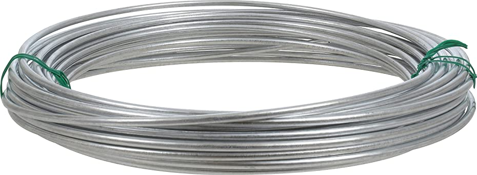 Hillman 122062 Galvanized Solid Wire 9 Gauge, 50 foot coil pqdnwo63029