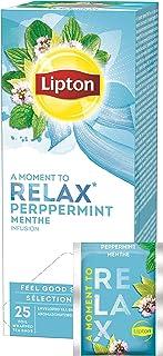 Lipton Pfefferminz Kräutertee langblättrig, erfrischend, 6er Pack 6 x 25 Teebeutel