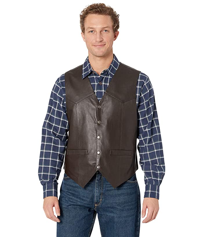 Scully Leather Vest (Brown) Men