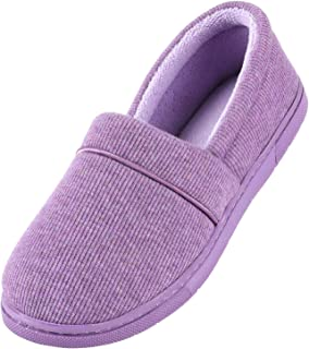 ULTRAIDEAS Women's Comfy Memory Foam Cotton Knit Slippers, Ladies' Plush Lightweight House Shoes with Indoor Anti-Skid Rub...