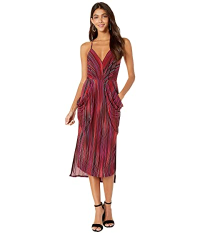 BCBGeneration Faux Wrap Midi Dress TJP6169244 (Multi) Women
