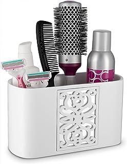 (Bathroom Organizer) - Dwellza Mirror Janette Bathroom Counter Organiser- Vanity Organisers- Countertop Makeup Brushes Cad...