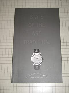State of the Art Tradition (Watches). With Price List