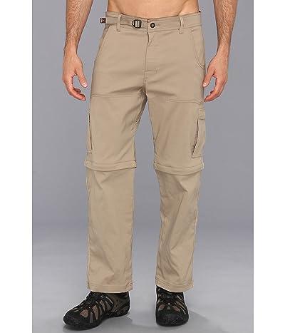 Prana Stretch Zion Convertible Pant (Dark Khaki) Men