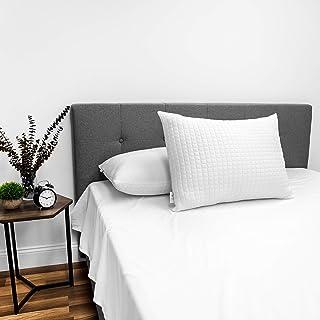 SensorPEDIC All Seasons Reversible Fiber Bed Pillow - 2 Pack,White,Standard