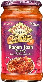 Pataks Simmer Sauce - Rogan Josh Curry - Medium - 15 Oz - Case Of 6