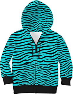 Rainbow Rules Zebra Print Kids Zip Up Hoodie Unisex