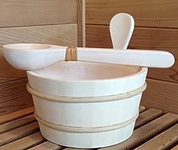 1 Gallon Aspen Sauna Bucket, Plastic Liner with Aspen Dipper